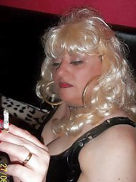 Smoking, Femdom, Blonde milf, Smoke, Blond milf