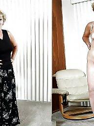 Grannies, Dressed undressed, Dress, Undressing, Amateur granny, Mature dress