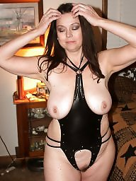 Mom, Latex, Leather, Milf in leather, Mature leather