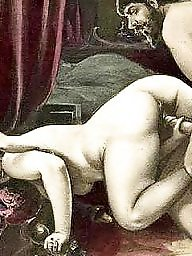 Group, Art, Vintage cartoons, Erotic, Group cartoon