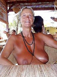 Nudist, Mature big tits, Mature tits, Nudists, Mature nudist, Wifes tits
