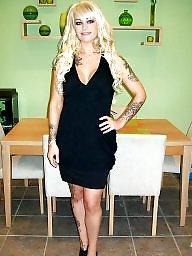 Blonde, Tattoo, Tattooed
