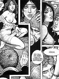 Comic, Comics, Vintage, Art, Red, Bdsm cartoon