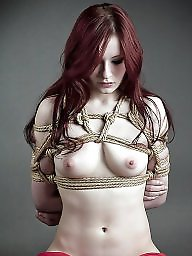 Tied, Bound, Tits, Flashing tits, Babes, Tied tits