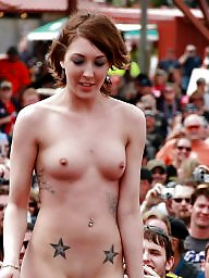 Tits, Girl, Girls, Naked, Amateur tits, Stand