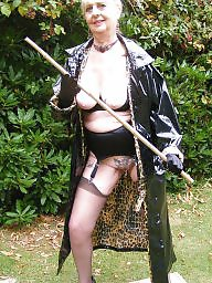 Granny, Pvc, Granny stockings, Grannies, Outdoor, Mature outdoor