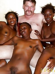 African, Interracial amateur, Woman, Man, White and black