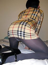 Pantyhose, Stockings, Grey, Dressing