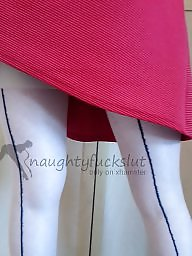 Upskirts, Before, Red, Dressed