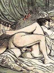 Drawings, Drawing, Draw, Erotic, Vintage drawing