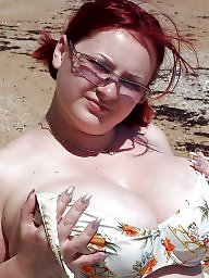 Beach, Dress, Topless, Bbw beach, Dressed, Sexy bbw