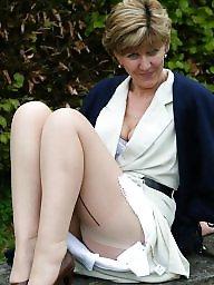Mature stocking, Uk mature, Mature in stockings, Stockings, Garden