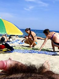 Beach voyeur, Man, Beach