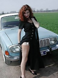 Nylons, Lady, Redheads, Driving, Vintage nylon, Country