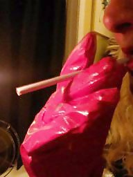 Smoking, Pvc, Dressed, Smoke, Red, Gloves
