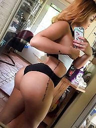 Sexy, Phone, Ass, Selfy, Amateur ass