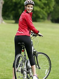 Celebrity, Blond, Bike