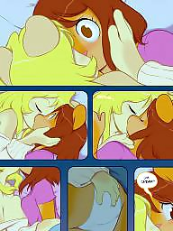 Cartoon, Cream, Lesbian cartoon