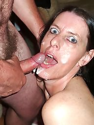 Creampie, Mature blowjob, Mature creampie