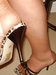 Nylon feet, Heels, Mature nylon, Mature feet, Mature heels, Stocking feet