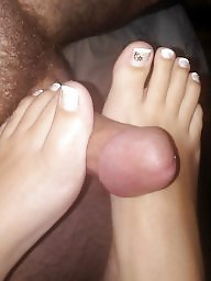 Footjob, Turkish feet, Turkish milf, Married, Faces, Face
