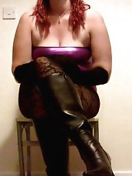 Boots, Pvc, Pose, Dress, Nylons, Dressing