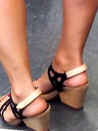 Fetish, Foot, Hidden cam, Toes, Sandals, Foot fetish