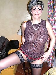 Mature stockings, Mature boobs