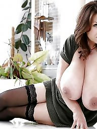 Brunette mature, Mature boobs, Big mature