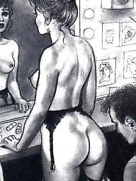 Femdom cartoon, Art