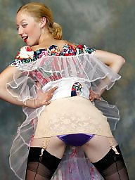 Girdle, Upskirt, Nylon, Youngs