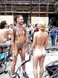 Riding, Public nudity, Bike