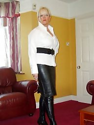 Boots, Latex, Leather, Pvc, Mature porn, Mature latex