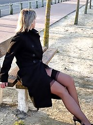 Stocking mature, Milf stocking, Mature flashing