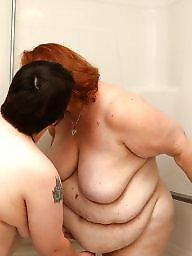 Shower, Bbw lesbians, Bbw shower, Shy, Bbw lesbian, Lesbian amateurs