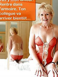 Cuckold, French mature, Caption, Big boobs, French, French caption