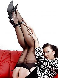 Vintage, Mature stockings, Older, Vintage mature