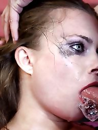 Teens, Rough, Deepthroat, Gagged, Gagging, Teen blowjob