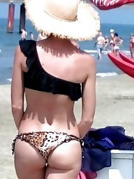 Hot milf, Beach milf, Ass beach