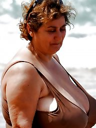 Granny, Granny boobs, Granny beach, Busty, Big granny, Amateur granny