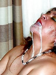 Facial, Amateur facials, Blowjob cum