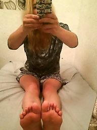Blond, Mirror, Teen feet