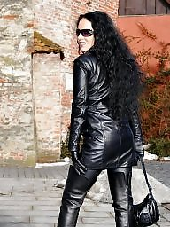 Boots, Leather, Latex, Pvc, Mature pvc, Mature latex