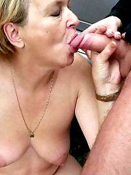 Granny, Granny boobs, Big granny, Blowjob, Mature blowjob, Granny blowjob