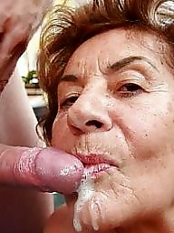 Granny, Mature facial, Granny mature, Granny facial, Cum covered
