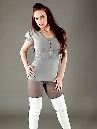 Pantyhose, Boots, Thighs, Stocking, Grey
