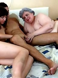 Grandma, Young, Grandmas, Orgy, Group sex, Mature sex