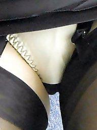 Knickers, Flashing, Upskirt flashing, Upskirt stockings, Flashing stockings