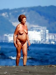 Granny beach, Voyeur, Grannies, Mature beach, Nude, Granny mature