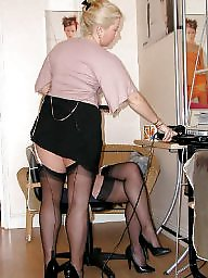 Vintage, Older, Stocking, Fun, Vintage mature, Mature in stockings